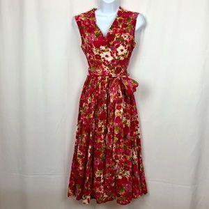 Newport News Cotton floral sleeveless dress 2